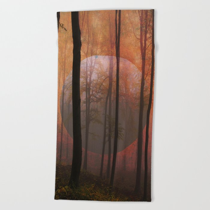 Not From Here, Surreal Forest Beach Towel