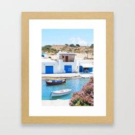234. Fisherman's Village, Greece Framed Art Print