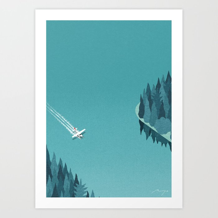 Landing on Lake Art Print