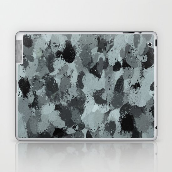 Black and Smokey Blue Pastels 3216 Laptop & iPad Skin