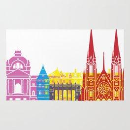 Strasbourg skyline pop Rug
