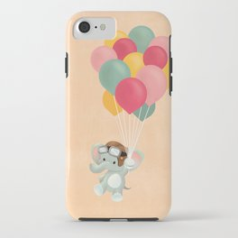Elephant and balloons iPhone Case