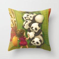 A cupboard of pandas Throw Pillow