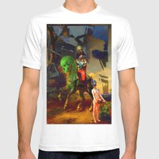 Alexander and Diogenes White SMALL Mens Fitted Tee
