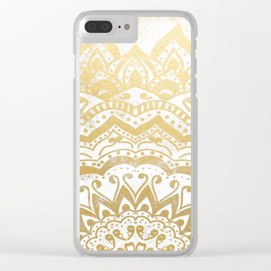 GOLD ORION JEWEL MANDALA Clear iPhone Case