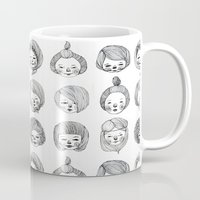 girls Mugs featuring Girls by Young Ju