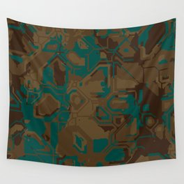 Peacock and Brown Wall Tapestry