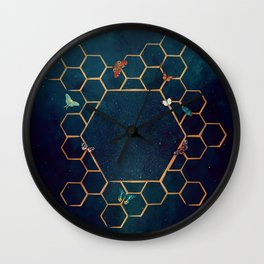 Butterfly invasion Wall Clock
