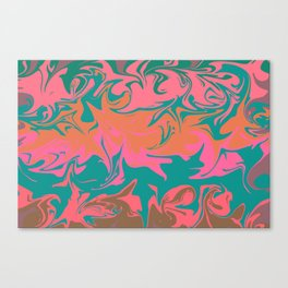 Purple storm, abstract hurricane in orange, blue and purple Canvas Print