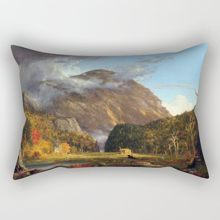Thomas Cole A View of the Mountain Pass Called the Notch of the White Mountains (Crawford Notch) Rectangular Pillow