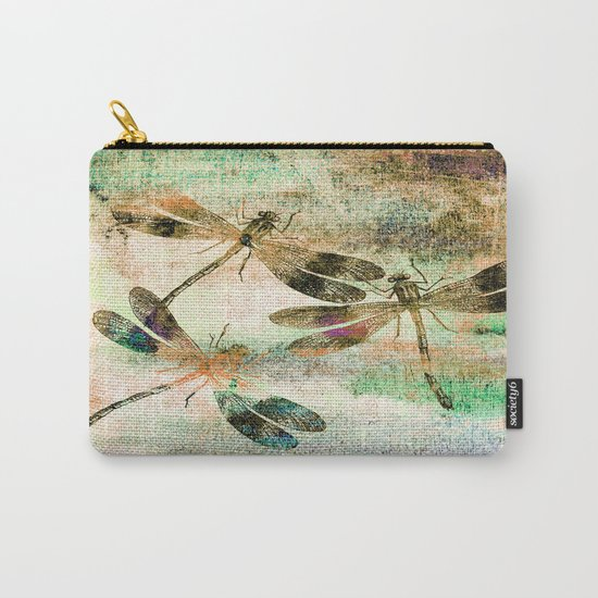 Mauritius Vintage Dragonflies QR Carry-All Pouch