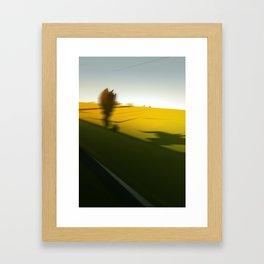 Trainblur Framed Art Print