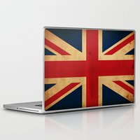 union jack Laptop & iPad Skins featuring Union Jack by NicoWriter