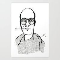 hunter s thompson Art Prints featuring Hunter S Thompson by daniel davidson