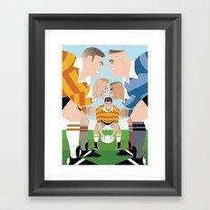 Rugby Scrum for Handsome Devil Press Framed Art Print