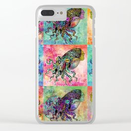 Cuttlefish Patchwork Clear iPhone Case