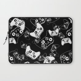 Video Game White on Black Laptop Sleeve