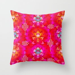 Variations on A Feather IV - Stars Aligned (Firebird Edition) Throw Pillow