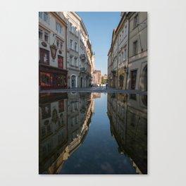 Mirrored Prague Canvas Print