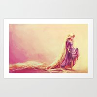 prince Art Prints featuring Gilded by Alice X. Zhang
