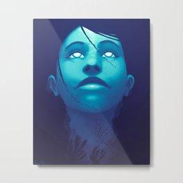 Luminescent Sapphire Metal Print