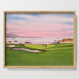 Pebble Beach Golf Course 8th Hole Serving Tray