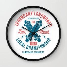 Legendary Longboard Wall Clock