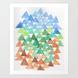 Forest of Tris Art Print