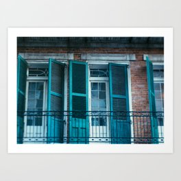 French Quarter Blues, No. 1 Art Print