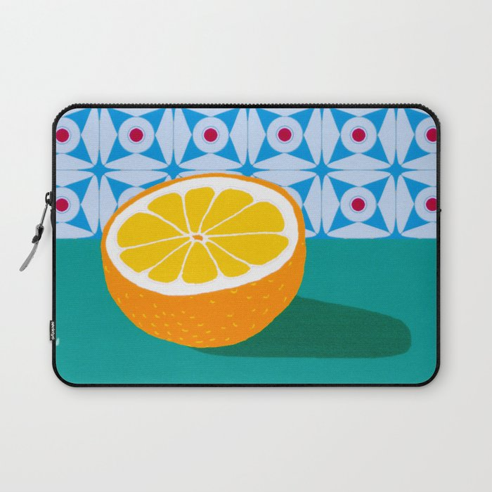 Fruit with Wallpaper (orange) Laptop Sleeve
