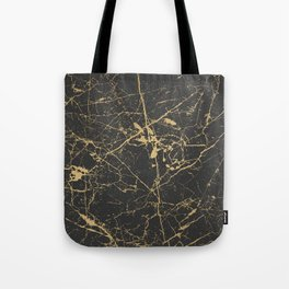 Marble Black Gold - Young Forever Tote Bag