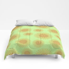 Summer flowers - Green Comforters