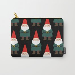 Gnome Repeat in Black Carry-All Pouch