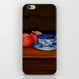 Teacup with Two Apples iPhone Skin