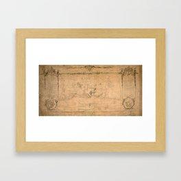Map Of Havana 1762 Framed Art Print