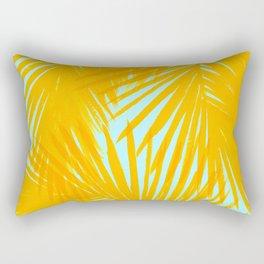Palms Tangerine & Blue Rectangular Pillow