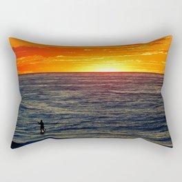 Paddle Boarding at Sunset Rectangular Pillow