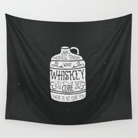 whiskey Wall Tapestries featuring WHISKEY by magdam