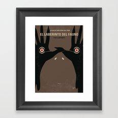 No061 My Pans Labyrinth minimal movie poster Framed Art Print
