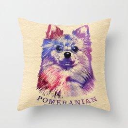 Cute Pomeranian German Spitz Throw Pillow