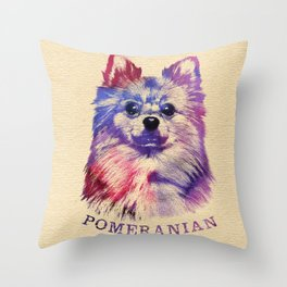 Cute Pomeranian German Spitz Throw Pillow