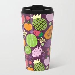 Juicy fruits dark Metal Travel Mug