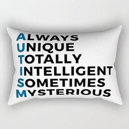 Autism Autistic Unique Intelligent Mysterious Rectangular Pillow