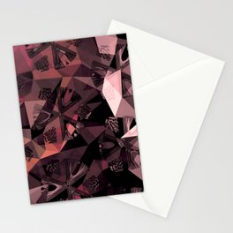 Lavender Red Brown Abstract Geometric Triangle Polygon Seedpod  Illustration Stationery Cards