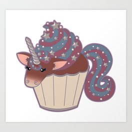 Cupcake Unicorn! Art Print