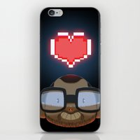 video games iPhone & iPod Skins featuring I love Video Games  by Shihab Aldeen