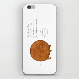 the spherical bear iPhone Skin