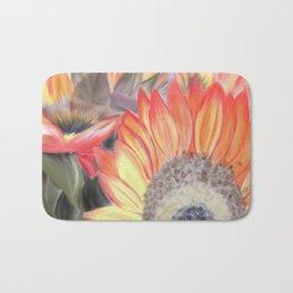 Fall Sunflowers Bath Mat