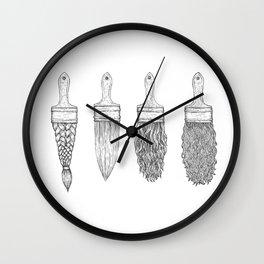 Brush type Wall Clock