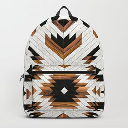 Urban Tribal Pattern 5 - Aztec - Concrete and Wood Backpack
